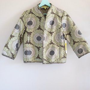 Sigrid Olsen Geometric Floral Dressy Jacket